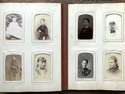 1870s 66 PHOTOS CDV Tintype CC Album BARKER Ryder Family PHILADELPHIA PA Mass.