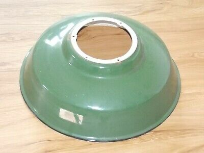 Green Enamel Porcelain Antique Industrial Light Shade Cover Lamp Fixture  SEXY