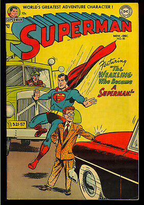 Superman #85 Nice Unrestored Pre-Code Golden Age DC Comic 1953 VG-