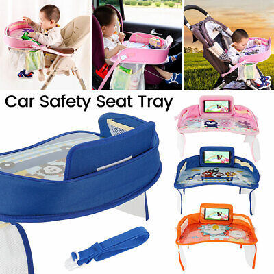 Waterproof Baby Car Seat Tray Snack Table Kids Child Play Travel Drawing Board