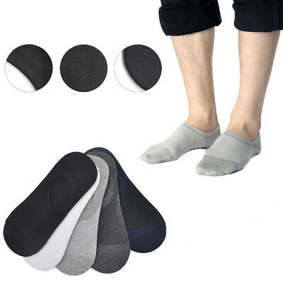 1 Pairs Men Women Invisible Low Cut No Show Footlet Socks Cotton Rich No-Slip