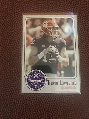 2019 Trevor Lawrence Rookie Card Clemson Tigers Quarterback