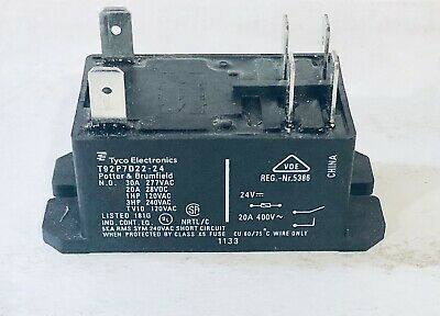 Portter & Brumfield T92P7A22-24 Power Relay coil 24Vac 30A Flange FREE SHIPPING
