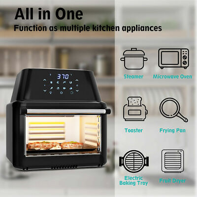 XL 16L Multi-functional Power Air Fryer Oven All-in-One 16.9Qt Dehydrator Grill