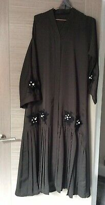 Women  jubbah jubba abaya thobe robe Frasha Maxi Dress Length 52 Inch New!