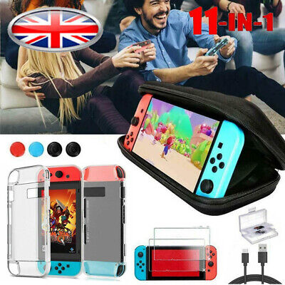 Switch Case Bag+Shell Cover+Charging Cable+Protector Accessories fit Nintendo