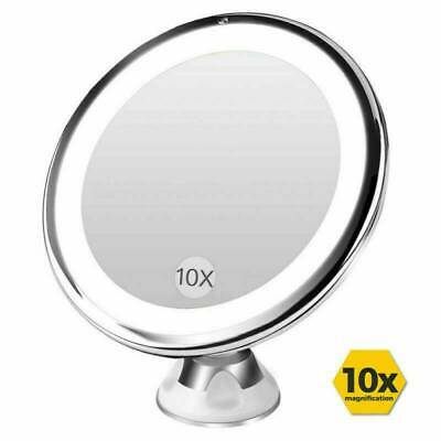 18LED 10x Magnifying Make-up Cosmetic Mirror Light Illuminated Bathroom Compact