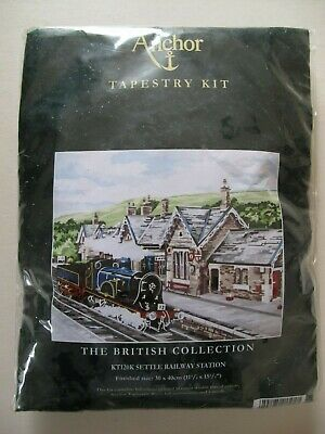 SETTLE RAILWAY STATION Anchor Tapestry Kit - The British Collection