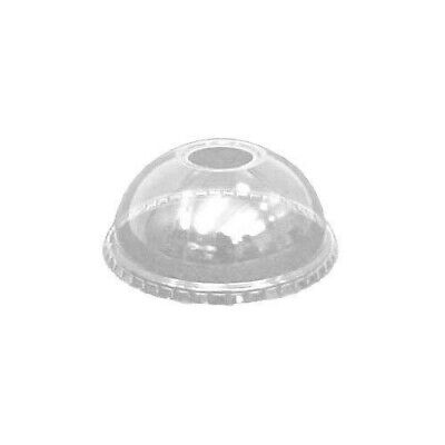 100 x Solo 12oz Domed Lids DLR640 With Hole Fits Dart TP22 Cups Supplies