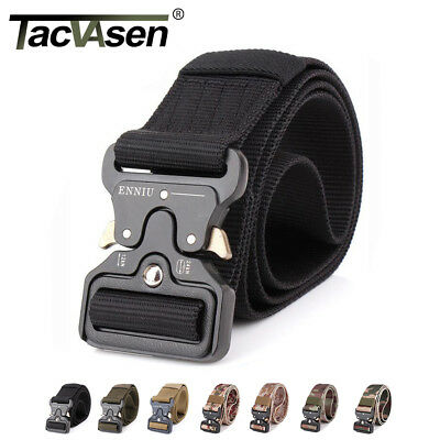 Tactical Heavy Duty Mens Belts Military Stylish Metal Army Pants Belts
