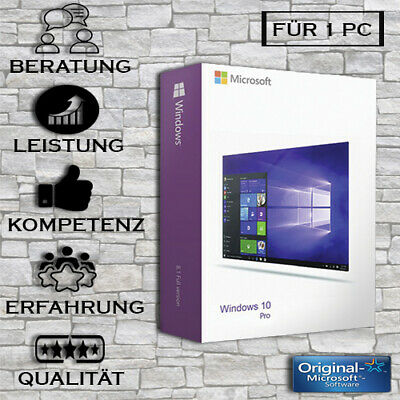 Windows 10 Professional - Vollversion - Win 10 Pro + Anleitung - Key per E-Mail