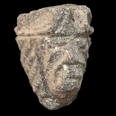 Ultra Rare Stone Age Neolithic Anthropomorphic Vinca Bust, 4500Bc (1)