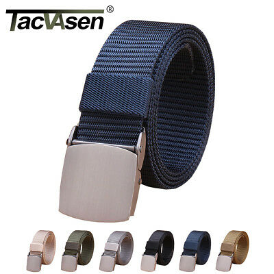 Mens Heavy Duty Nylon Canas Belts Army Military Pants Tactical Belts