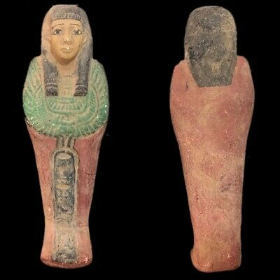 EGYPTIAN HIEROGLYPHIC SHABTI, LATE PERIOD 664 - 332 BC (2) Large Over 15 cm !!!!