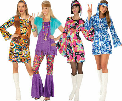 Outfit for 60s 70s Fancy Dress Costume Ladies Groovy Girl