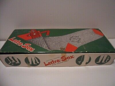 LECTRA-SOX BATTERY HEATED ELECTRIC WARMING SOX w BOX 1970s
