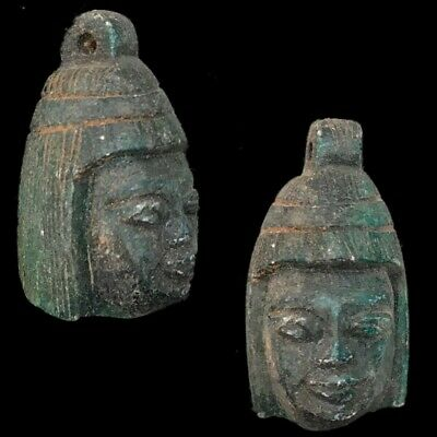 Beautiful Ancient Egyptian Bust Amulet 300 Bc (9)