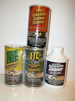 Nos Bg Fuel Injection Cleaner,Cooling System Cleaner, Atc+, Quick Clean Cans