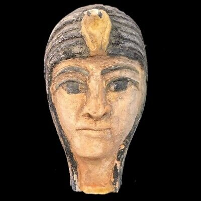 EGYPTIAN PHAROAH BUST STATUE, LATE PERIOD 664 - 332 BC (1) Large Over 11.5 Cm