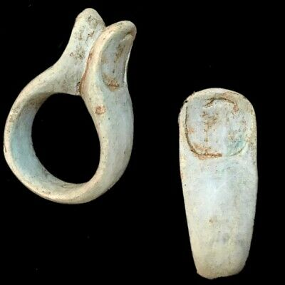 Beautiful Ancient Egyptian Finger Ring 300 Bc (2)