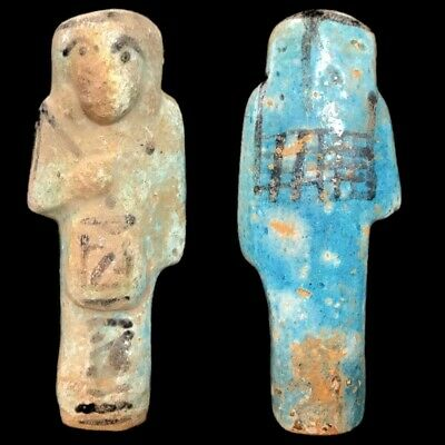 EGYPTIAN HIEROGLYPHIC SHABTI, LATE PERIOD 664 - 332 BC (5) Large Over 10 cm !!!!