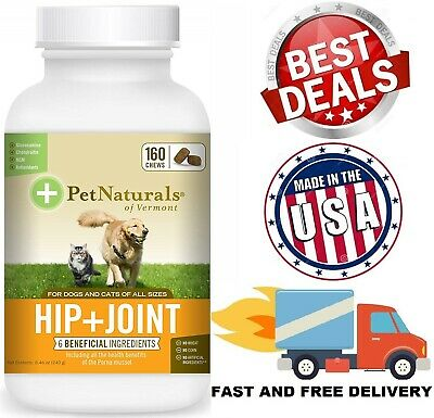 SUPPORT HIP JOINT FOR DOGS CATS Glucosamine Chondroitin MSM Vitamins 160 Chews
