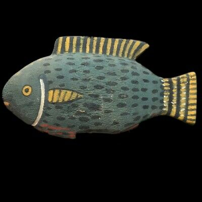 BEAUTIFUL ANCIENT HUGE EGYPTIAN WOODEN FISH 300 BC (1) 24 cm WIDE !!!!!