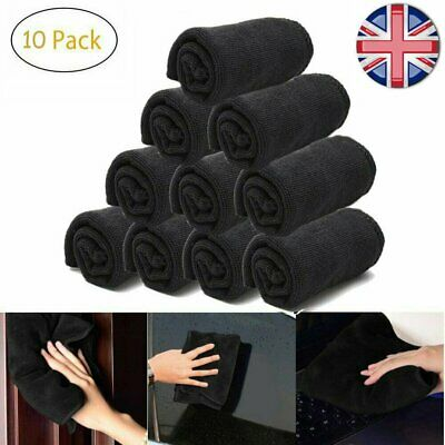 10PCS Car Microfiber Cleaning Cloths Washing Drying Detailing Towel Ultra-Thick