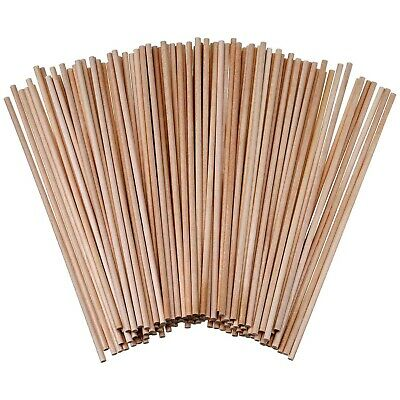120 Pack Unfinished Natural Bamboo Dowel Rods Wooden Craft Sticks 6 x 0.125 inch