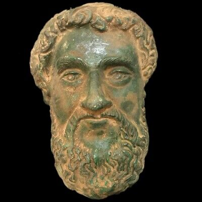 ROMAN ANCIENT BRONZE BUST- 200-400 AD (1) LARGE 18 Cm LONG !!!!!