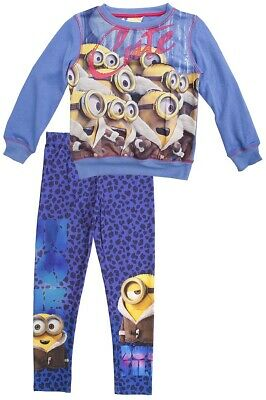 * Girls Despicable Me Minions Cute Oops! Sweat Jumper & Leggings Set 3 Years