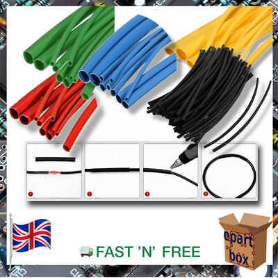 Electronic Heat Shrink Tubing Sleeving Cable Wire, 2.5, 4, 5, 8mm BLACK, RED