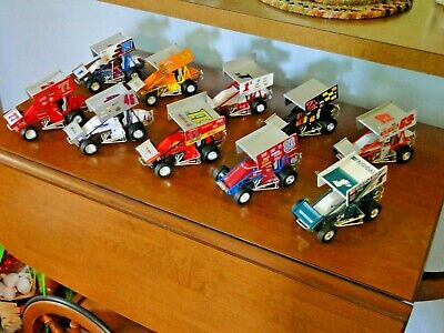 10 1990s Racing Champions Diecast Sprint cars World of Outlaws 1/24