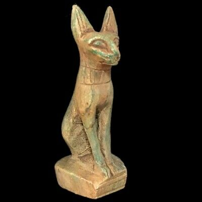 Beautiful Ancient Egyptian Bastet God Statue  300 Bc (2)
