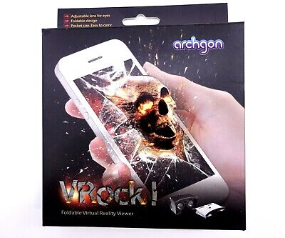 Archgon New VRock Foldable Adjustable Virtual Reality Game Viewer 3D Lens Effect