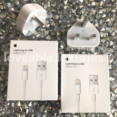 Genuine Apple Wall Charger Plug or USB Lightning Cable For iPhone 11 XS 8 7 6 5S