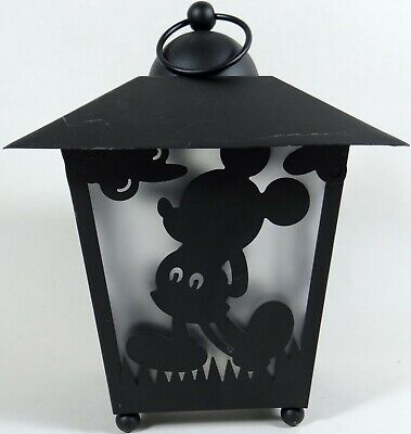 Mickey Mouse Silhouette Lantern Disney Black Metal Hangs or Stands
