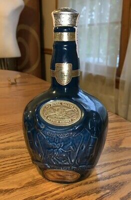 Royal Salute Scotch Whisky Bottle 21 Years Old Chivas Brothers Blue