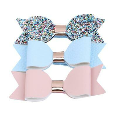 Glitter Handmade Bow Hair Accessory Girl Fashion Casual Headwear Clips W