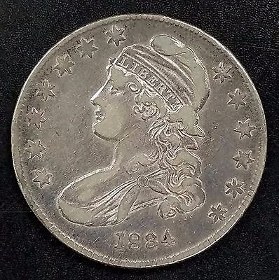 1834 Capped Bust, Lettered Edge Half Dollar! Sm date/sm letters!