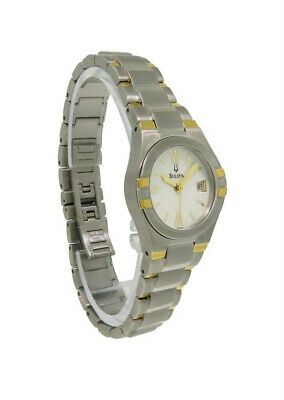 Bulova 98U28 Women's Round Analog Roman Numeral Date Stainless Steel Watch