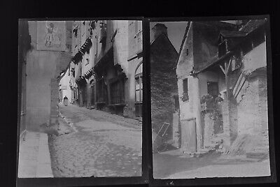 1920s Negative Photo X2 Old Vitre Brittany Streets France H Bairstow