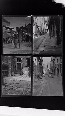 1920s Negative Photo X4 Old Vitre Brittany Interesting Street Scenes  H Bairstow