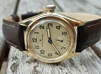Rolex Oyster 9ct gold gents watch midsize 1938! Decent piece for the Year