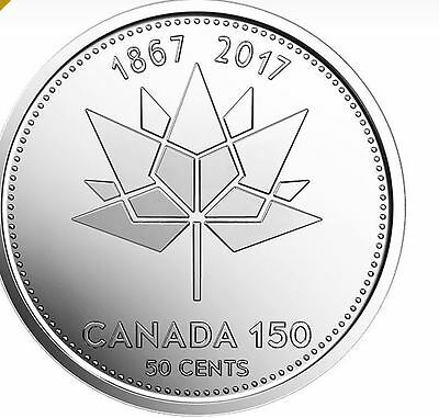 Canada 2017 50 Cent Coin Celebrating 150th Anniversary Of Canada.