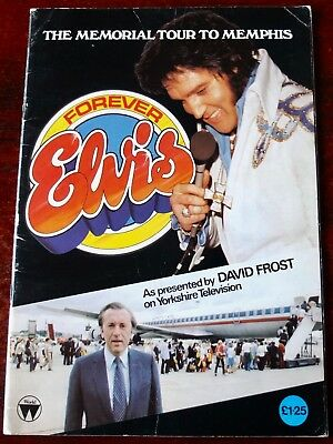 Forever Elvis The Memorial Tour To Memphis Book (1980) David Frost Tv Programme