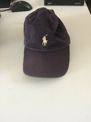 Ralph Lauren Polo Baseball Cap Blue with Yellow Pony Adults
