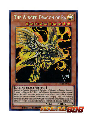 YUGIOH x 1 The Winged Dragon of Ra (alternate art) - TN19-EN009 - Prismatic Secr