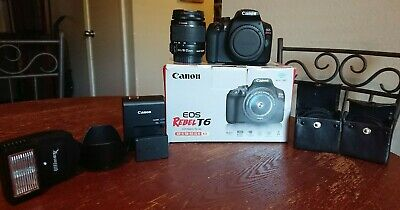 Canon EOS Rebel T6 18.0MP Digital SLR Camera with 18-55 mm Lens
