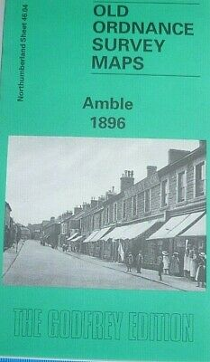 Old Ordnance Survey Maps Amble Northumberland 1896 Godfrey Edition Offer